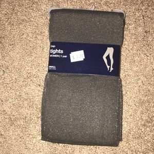 Brand new never been worn gray sparkly tights